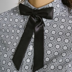 Womens black bowtie Willsoor 9306, Willsoor